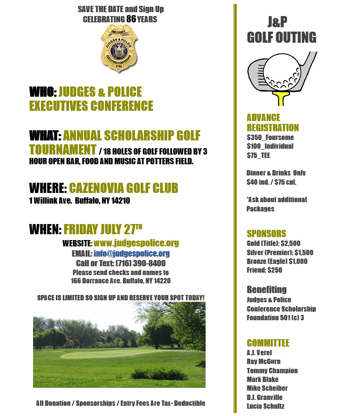 Judges & Police Conference Golf Outing 2018